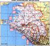 Топографическая карта Краснодарского края и Республики Адыгея.  Масштаб 1:200000.  Схема расположения листов карты.